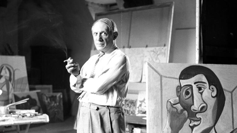 Citation motivante 7/30 – Pablo Picasso – J'essaie toujours de faire…
